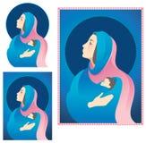 Mary-und Jesus-Geburt Christi Lizenzfreies Stockbild