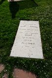 Mary Van Cott Детеныш, серьезный камень, на мемориале Мормона пионерском, d стоковое изображение rf