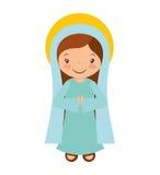 Mary vigin manger character Stock Photo