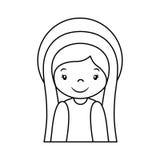 Mary vigin manger character Royalty Free Stock Image