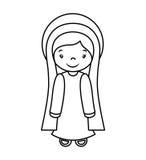 Mary vigin manger character Stock Photos