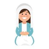 Mary vigin manger character Royalty Free Stock Photo