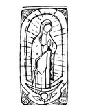 Mary Virgin de Guadalupe illustration stock