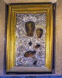 Mary Virgin Jesus Icon Altar-Pantheon Rom Italien Stockfotografie