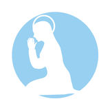 Mary virgin manger character. Vector illustration design Royalty Free Stock Images