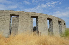 Maryhill Concrete Stonehenge War Memorial. The Maryhill Stonehenge is a 1929 concrete replica of Stonehenge located in Washington state to commemorate World War royalty free stock images