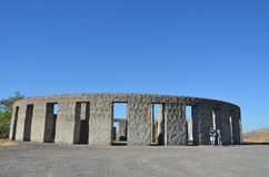Stonehenge Memorial near Maryville, Washington. The Maryhill Stonehenge is a replica of England's Stonehenge located in Maryhill, Washington. It was Royalty Free Stock Images