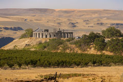 Maryhill Stonehenge. The Maryhill Stonehenge is a replica of Stonehenge in England located in Maryhill, Washington and is a memorial to those who had died in stock photography