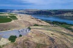 Maryhill Stonehenge Waszyngtoński Wojenny pomnik Zdjęcia Stock