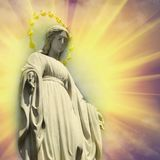 Maryja Dziewica statuy antyczna modlitwa, wiara, religia, miłość, nadzieja zdjęcie stock