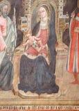 Maryja Dziewica z dzieckiem Jezus i świętymi zdjęcie royalty free