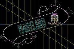 Maryland ślimacznica ilustracja wektor