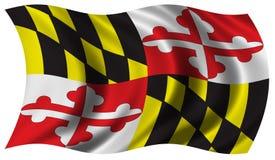 Maryland bandery Zdjęcie Stock