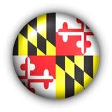 Maryland bandery guzik rundę stanu usa ilustracji