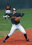 Maryland Baseball - Tomo Delp throws the ball Royalty Free Stock Photos