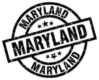 Maryland black round stamp Royalty Free Stock Images
