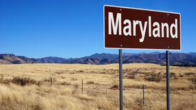 Maryland brown road sign Stock Photos