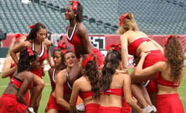 Maryland-Cheerleadern Lizenzfreie Stockbilder