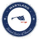 Maryland circular patriotic badge. Royalty Free Stock Image