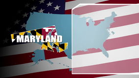 Maryland Countered Flag and Information Panel stock video