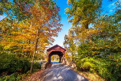 Maryland Covered Bridge in Autumn Royalty Free Stock Photos