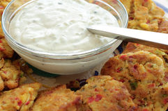 Maryland Crab Cakes Stock Photo