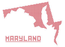 Maryland Dot Map Stock Images