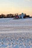 Maryland Farm in the Snow Royalty Free Stock Photo