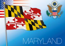 Maryland federal state flag, United States. Vector illustration Royalty Free Stock Images