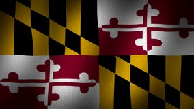 Maryland flagga arkivfilmer