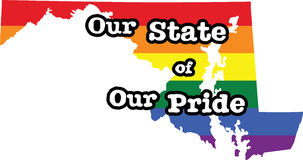 Maryland gay pride vector state sign Stock Photography