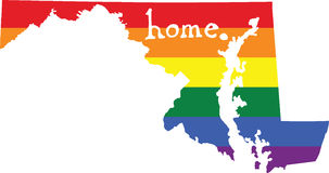 Maryland gay pride vector state sign Royalty Free Stock Photography