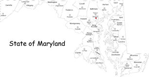 Maryland map Stock Image