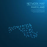 Maryland network map. Royalty Free Stock Photo