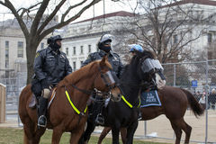 Maryland Park Police during Donald Trump Inauguraton Stock Photo