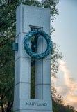 Maryland Pillar at the World War II Memorial stock photos