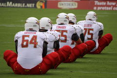 Maryland players stretch out in a row Royalty Free Stock Image
