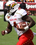 Maryland receiver#4 Wes Brown Arkivbild