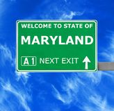MARYLAND road sign against clear blue sky royalty free stock photos