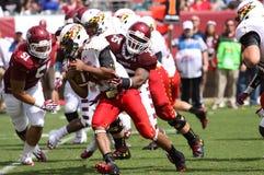 Maryland running back #44 Justus Pickett looks for running room Royalty Free Stock Image