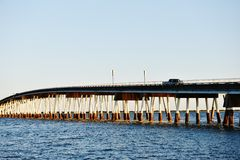 Maryland stanu usa assateague wyspy most dla samochodów Zdjęcia Stock