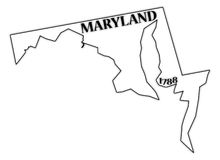 Maryland State and Date Royalty Free Stock Photo