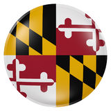 Maryland State flag button Stock Image