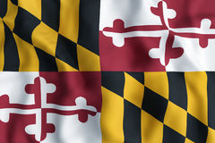 Maryland State flag Royalty Free Stock Image