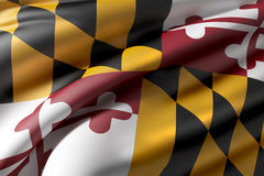 Maryland State flag Royalty Free Stock Photography