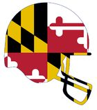 Maryland State Flag Football Helmet Royalty Free Stock Photo