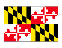 Maryland State Flag Vector. The state flag of Maryland created in Adobe Illustrator.  Vector file available Stock Photos