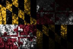 Maryland state grunge flag, United States Of America. Maryland state flag, United States Of America stock photography