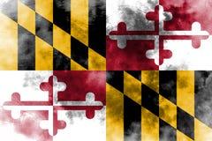 Maryland state grunge flag, United States of America.  Royalty Free Stock Photography