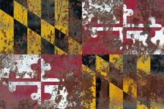 Maryland state grunge flag, United States of America.  Stock Photo